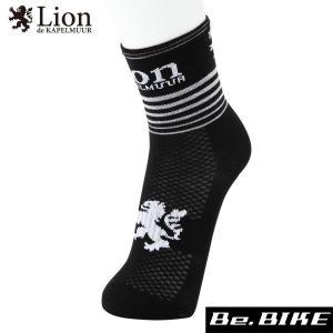 カペルミュール サイクルレーシングソックス スピードライン ブラック 自転車 ソックス 靴下 (LISOX007)|bebike