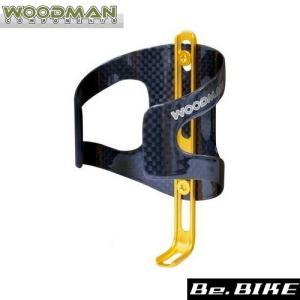 WOODMAN カーボケージAJ ゴールド 自転車 ボトルケージ|bebike