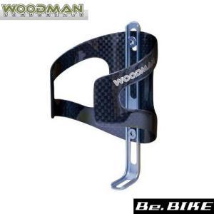 WOODMAN カーボケージAJ ピューター 自転車 ボトルケージ|bebike