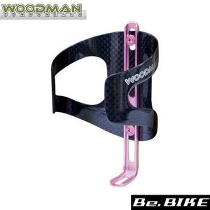 WOODMAN カーボケージAJ ピンク 自転車 ボトルケージ|bebike