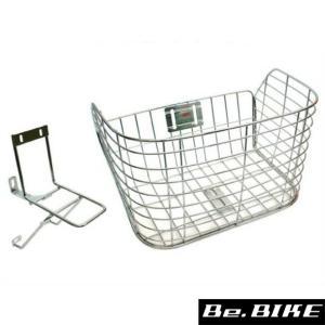 センタン STB-220 ステンレスバスケット キャリア付 (MTB)用 自転車 フロントバスケット|bebike