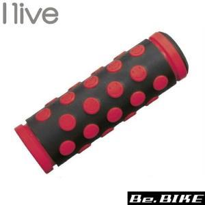 I live スマイルグリップ 短・短 ブラック/レッド 自転車 グリップ|bebike