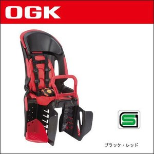 OGK 自転車用チャイルドシート RBC-011DX3 (ブラック・レッド) 後ろ bebike