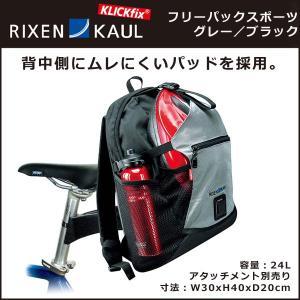 RIXEN &KAUL KM821 フリーパックスポーツ グレー/ブラック リアアタッチメント|bebike