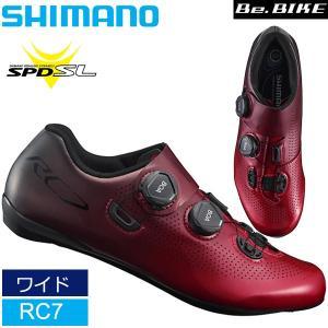 シマノ RC7 レッド ワイドサイズ  SPD-SL  シューズ ビンディングシューズ ロードコンペティション SHIMANO 自転車    |bebike