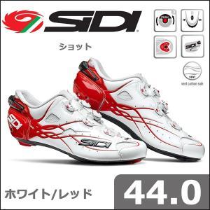 SIDI ショット ホワイト/レッド 44.0 自転車 シューズ bebike