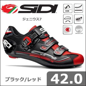 SIDI ジェニウス7 ブラック/レッド 42.0 自転車 シューズ bebike