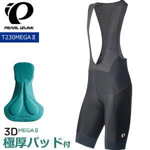 パールイズミ Mサイズ 1.ブラック パンツ (T230MEGA-1-M) コールドブラック ビブ PEARL IZUMI/ メガ サイクルウェア