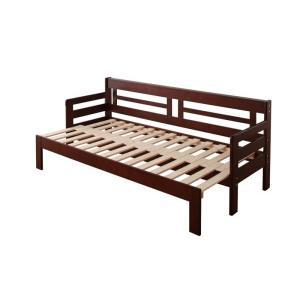 ソファベッド 3.5P 〔フレームのみ〕 省スペース 横幅伸縮の天然木すのこソファベッド bed-lukit
