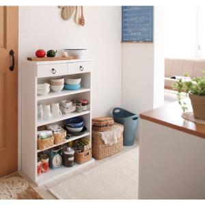 食器棚 白 おしゃれ 薄型 スリム  〔幅59×高さ90×奥行24cm〕 日本製 キッチン収納 コンパクト|bed-lukit