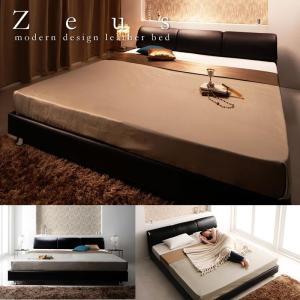 クイーン キング 対応ラグジュアリーデザインレザーベッド Zeus ゼウスの写真