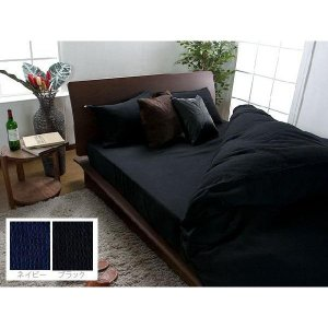 ボックスシーツ(シングル) レナ(ブラックネイビー) bed