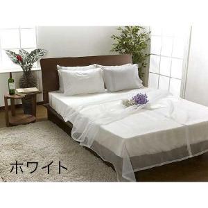 ベッドスプレッド(Lサイズ260×280cm) オーガンジー(クイーンキングベッド対応) |bed