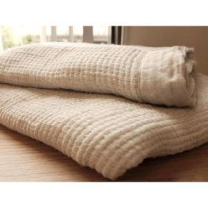 麻で涼しい夏をリネンのブランケット(150×200cm) フワージュ |bed