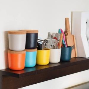 ●フランス発 食洗機も使え耐熱にすぐれた竹素材の食器 ビオブ ストレージジャー(S)  成長が早く肥...