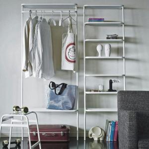 ●DUENDE棚ラック ホワイト  壁に立て掛けるだけのありそうでなかった斬新なスタイルの収納棚 コ...