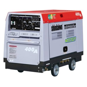 【送料無料】新ダイワ ディーゼルエンジン溶接機 DGW400DMC−W 【大特価】|bedream