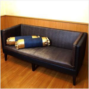 キャンディークッション カバーのみ 抱き枕  ネイビー×ブルー アジアン風 No.4|bedrunner