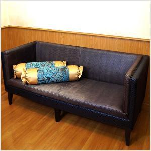 キャンディークッション カバーのみ 抱き枕  ブルー×グリーン アジアン風 No.8|bedrunner