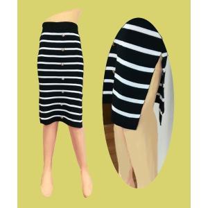小さいサイズの 膝下丈 ニットスカート w242465【S】3号〜5号 レディース|bee-fit