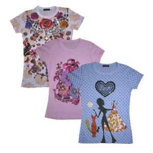 アートTシャツ w271043【S】5号 小さいサイズ・レディース|bee-fit