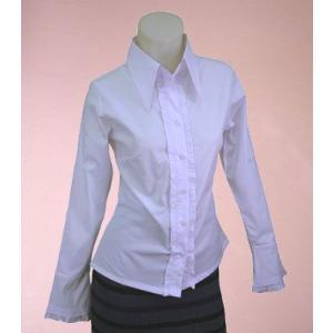 ストレッチデザインシャツw272052【S】5号 小さいサイズ・レディース|bee-fit