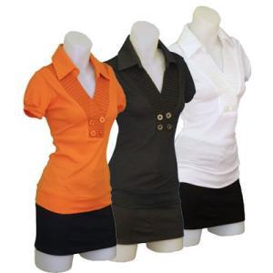 半袖ロングニットシャツW272106【S】5号 小さいサイズ・レディース|bee-fit