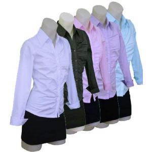 長袖ギャザーシャツ w272240 【S】5号 小さいサイズ・レディース|bee-fit