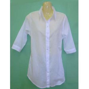 八分袖 シフォンロングシャツw272406【F】5号〜7号 小さいサイズ・レディース|bee-fit