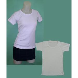 ホワイト Tシャツ w272441 【F】5号〜7号 小さいサイズ・レディース|bee-fit