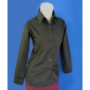 小さいサイズの ブラック長袖シャツ w272478 【S】5号小さいサイズ・レディース|bee-fit