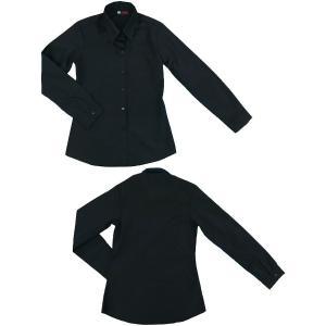 小さいサイズの ブラック長袖シャツ w272478 【S】5号小さいサイズ・レディース|bee-fit|02