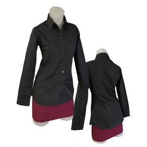 小さいサイズの ブラック長袖シャツ w272478 【S】5号小さいサイズ・レディース|bee-fit|04