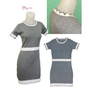 小さいサイズの 半袖ニットワンピース w272486 Sサイズ 5号|bee-fit|03