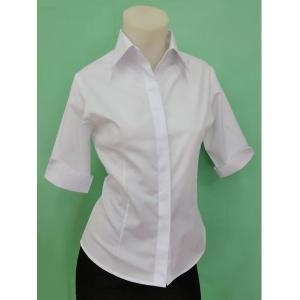 小さいサイズの 半袖比翼シャツ w272504 【S】5号|bee-fit