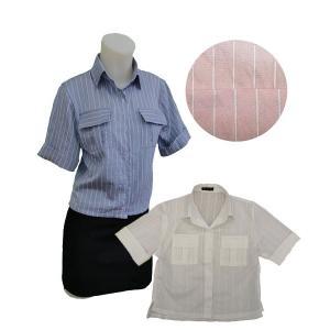 小さいサイズの 半袖ストライプシャツ w272506 Sサイズ 5号〜7号 |bee-fit