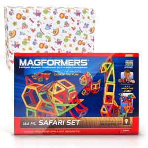 マグフォーマー 83ピース 知育玩具 ブロック マグネット おもちゃ サファリセット 動物|bee8