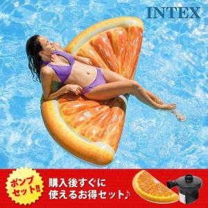 INTEX インテックス 浮輪 オレンジ フルールマット フ...