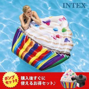 INTEX インテックス 浮輪 カップケーキ ビーチマット ...