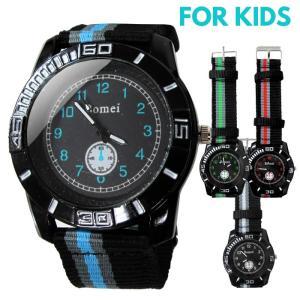 腕時計 子供 キャンバスベルト 時計 キッズ ウォッチ 男の子 女の子 アナログ アウトドア