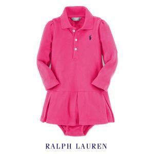 ラルフローレン ワンピース 長袖 ベビー ドレス スカート 女の子 子供 子供服 POLO RALPH LAUREN|bee8