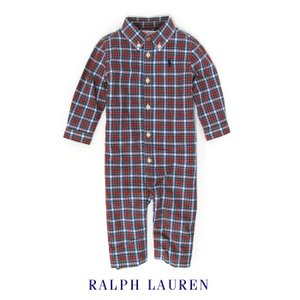 ラルフローレン カバーオール 長袖 ベビー 男の子 子供服 ロンパース (3ヶ月-9ヶ月)|bee8