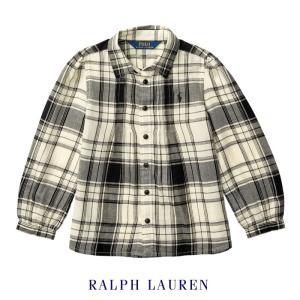 2728154857ab9 ラルフローレン ブラウス チェック シャツ キッズ 女の子 子供 子供服 (5歳-7歳)