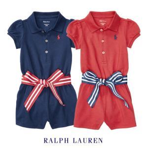 ラルフローレン ワンピース ロンパース カバーオール ベビー 半袖 女の子 出産祝い 子供 子供服 ドレス POLO RALPH LAUREN|bee8