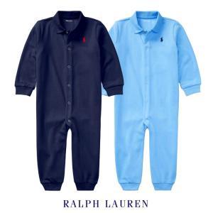 ラルフローレン カバーオール ベビー 男の子 襟つき 足つき 長袖 前ボタン ギフト 出産祝い|bee8