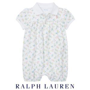 2d98cdc974099b ラルフローレン ロンパース 半袖 ベビー 子供 女の子 子供服 花柄 出産祝い