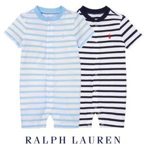 ラルフローレン ロンパース 半袖 ベビー 子供 男の子 子供服 ストライプ 出産祝い