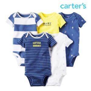 カーターズ 半袖 ロンパース ボディースーツ 5枚 セット ボディスーツ 男の子 子供 子供服 ベビー|bee8