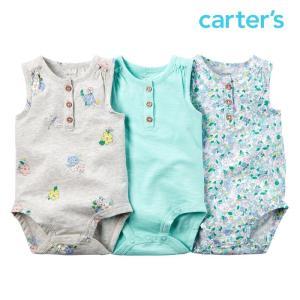 カーターズ ボディースーツ ロンパース 女の子 子供 子供服 3枚セット ノースリーブ ベビー|bee8