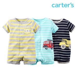 カーターズ ロンパース カバーオール 男の子 前ボタン 半袖 ベビー 子供 子供服 出産祝い|bee8